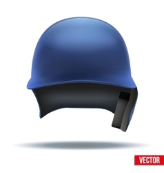 Classic blue baseball helmet front view isolated vector