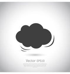 Cloud icon speech bubble vector image