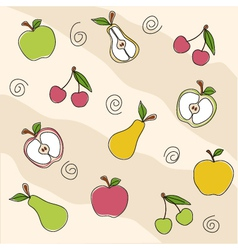 Fruit seamless texture vector image vector image