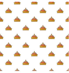 imperial crown pattern seamless vector image vector image