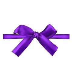 realistic purple bow vector image vector image