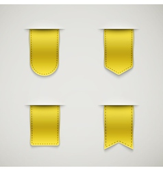 set of yellow ribbons vector image vector image