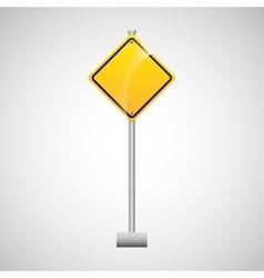 sing yellow empty traffic design vector image