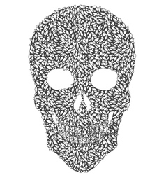 Gray Leaf Skull vector image vector image