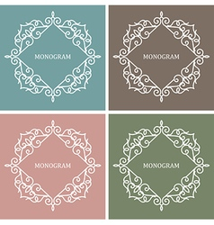 Monogram Design Frame vector image vector image