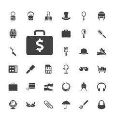 33 accessory icons vector