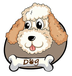 A head of a cute dog vector image