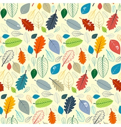 Abstract Seamless Pattern - Autumn Leaves vector image