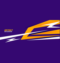 Abstract sports style banner in purple and yellow vector
