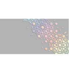 Arabian holographic geometric background vector