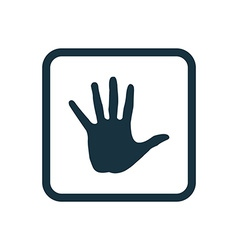 arm icon Rounded squares button vector image