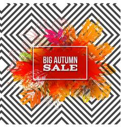 autumn foliage sale on pattern vector image