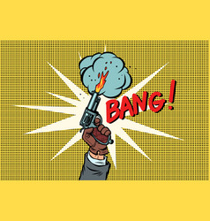 bang the starting gun vector image