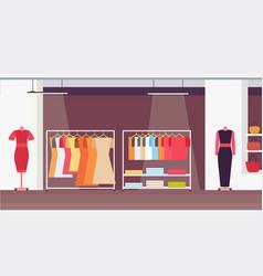 big fashion shop super market female clothes vector image