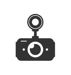 black car dvr simple icon vector image