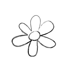 Blurred silhouette flower figure design vector