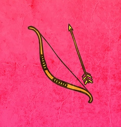 Bow and Arrow Cartoon vector image