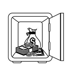 box money safe icon vector image