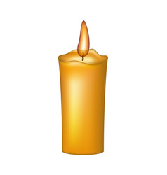 Burning wax candle vector