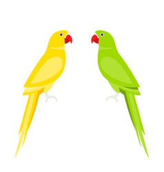 Cartoon cute parrot large parakeets vector
