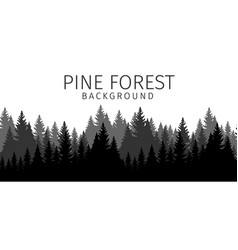 cartoon pine forest background vector image