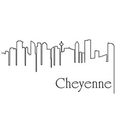 cheyenne city one line drawing vector image