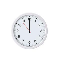 Circle clock isolated 12 oclock vector