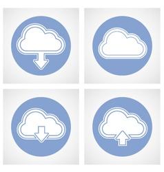 Cloud computing icon - online storage vector image