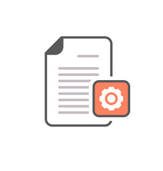 Cog document file gear optimize page icon vector