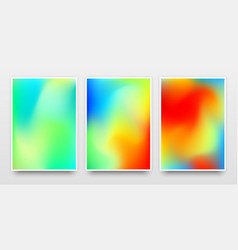 Color gradient poster templates vector