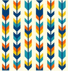 colorful bohemian aztec arrows pattern vector image