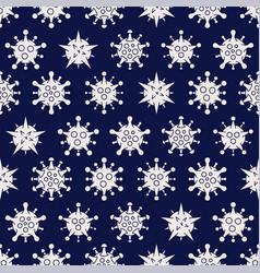 coronavirus covid19-19 seamless pattern different vector image