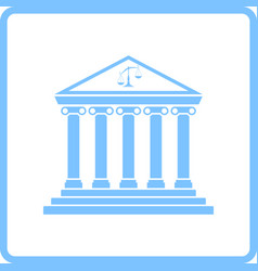 courthouse icon vector image