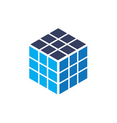 Cube rubik business logo vector