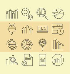 Data analysis business financial diagram stock vector