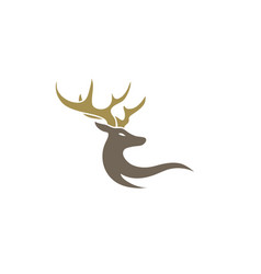 deer with big horns for logo design vector image