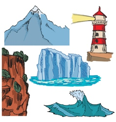 Different landscapes vector