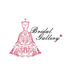 Dress boutique bridal logo ideas template vector