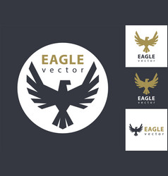 eagle logo template eagles icon in a circle vector image