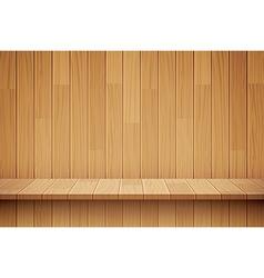 empty wooden shelf background vector image
