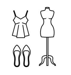 Female fashion clothes icon vector