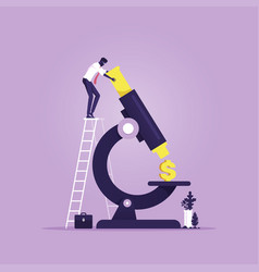 Financial research and analysis concept money vector