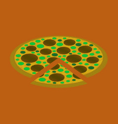 Flat shading style icon pizza vector