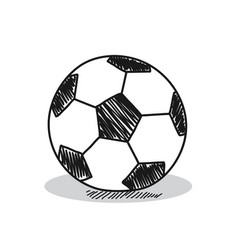 Football on a white background vector
