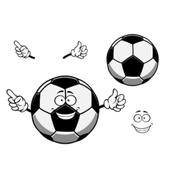 Football or soccer ball sporting mascot cartoon vector