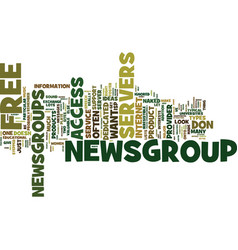 Free newsgroup servers text background word cloud vector