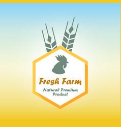 fresh farm emblem vector image