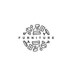 furniture logo design templatehome furnish vector image