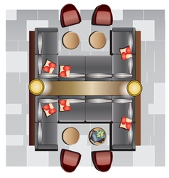 Furniture top view set 18 vector
