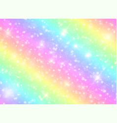 Galaxy rainbow background vector